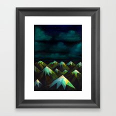 Night Mountains.  Framed Art Print