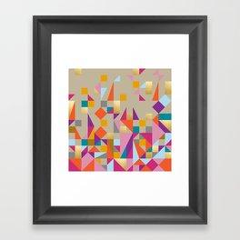Fiesta Quilt Framed Art Print