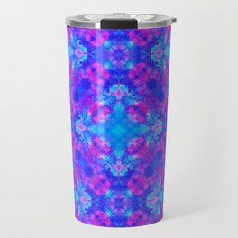 Hand drawn seamless pattern with folk national motives. Bright colored abstract wallpaper. Seamless Travel Mug