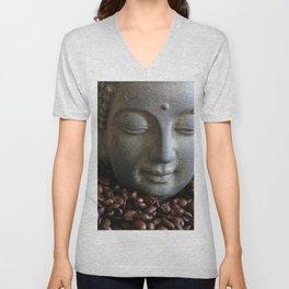 coffee buddha Unisex V-Neck