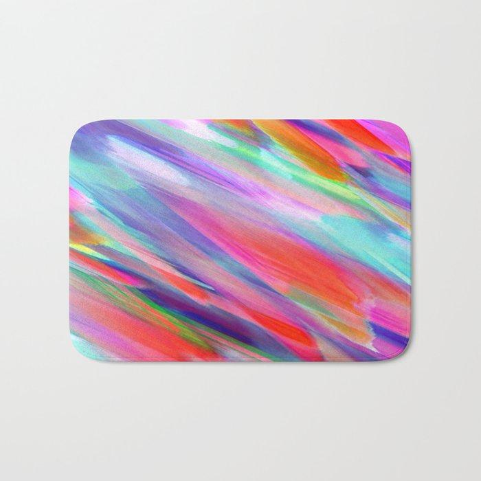 Colorful digital art splashing G399 Bath Mat