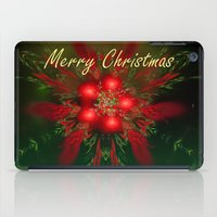 merry christmas iPad Cases featuring Merry Christmas by Roger Wedegis