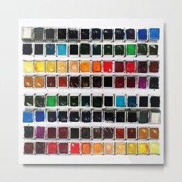 Paintbox Set Metal Print