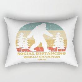 Bigfoot Social Distancing World Champion Rectangular Pillow