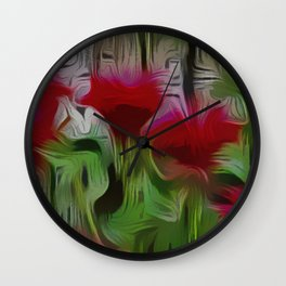 Fanciful Scarlet. Red Balm Wall Clock