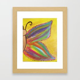 what gives you wings? Framed Art Print