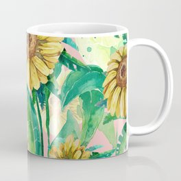sunflowers in pink Coffee Mug
