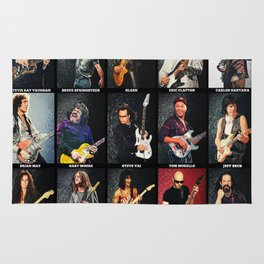 Greatest Guitarists Of All Time Rug