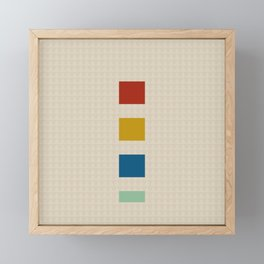 four elements || tweed & primary colors Framed Mini Art Print