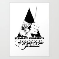 clockwork orange Art Prints featuring Clockwork Orange by DarrylDoodles