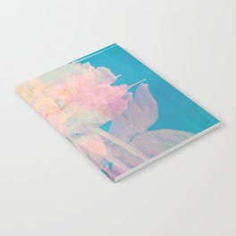 Rotation - Botanical Surrealism Blue Beige Notebook