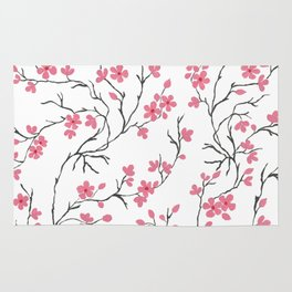 Cherry Blossom in Spring Rug