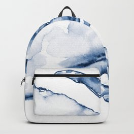 Coastal Crab in Watercolor, Navy Blue (Right Half in Set) Backpack