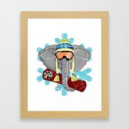 Elephant Snowboard | DopeyArt Framed Art Print