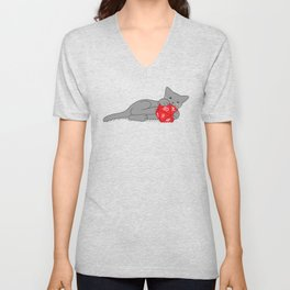 Critical Kitty Unisex V-Neck