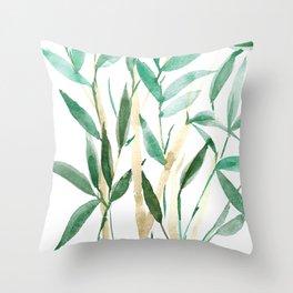 Bamboo Painting Throw Pillow