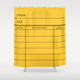 LiBRARY BOOK CARD (dandelion) Shower Curtain