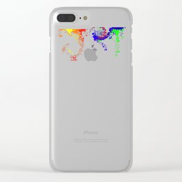Rainbow Spurt 03 Clear iPhone Case