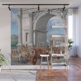 Classical Masterpiece: Roman Legion in Triumphal Procession by Herbert Herget Wall Mural