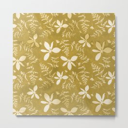 Sun Print Floral Metal Print
