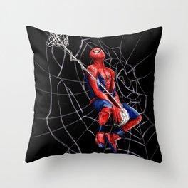 Spidey Dunk  Throw Pillow