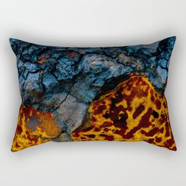 Colors texture of birch mushroom Rectangular Pillow