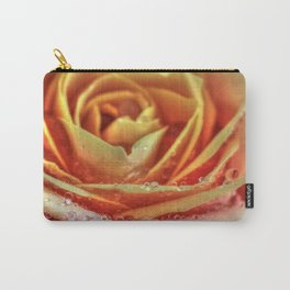 Orange Ruby Rose Carry-All Pouch
