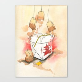 Tea Bags and Take out Canvas Print