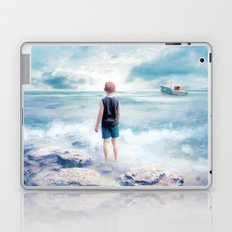 Waiting at the water's edge Laptop & iPad Skin