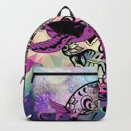 ultra violet space skull Backpack