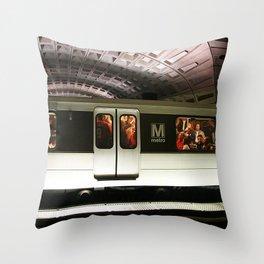 Washington DC Metro Throw Pillow