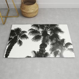 Palm Tree Art Print {3 of 3} | B&W Topical Beach Plant Nature Vacation Sun Vibes Artwork Rug