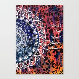 Flower Mandala Pattern Canvas Print