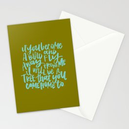 If You Become a Bird Stationery Cards