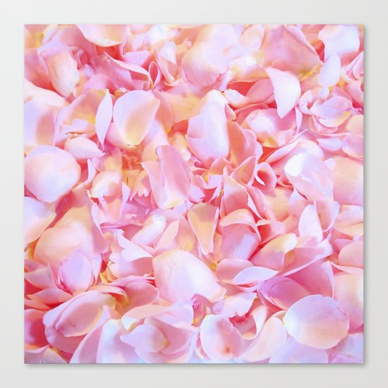 Pink flower petals - Beautiful floral rose roses background Canvas Print