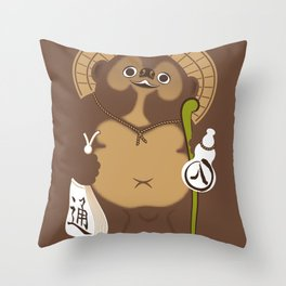 Japan Serie 5 - TANUKI Throw Pillow