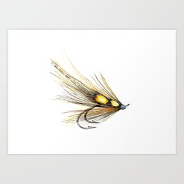 Willie Gunn Fishing Fly 2 Art Print