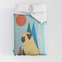 Waiting for you Pug Comforters