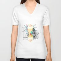 fifth element V-neck T-shirts featuring FIFTH SKY by D'ANGELO ATENEA