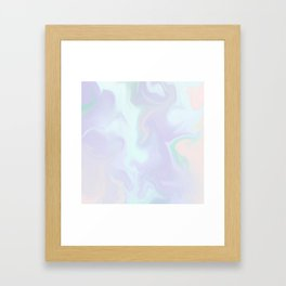 Holographic Marble x Purple Framed Art Print