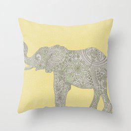 Sacred Paisley Elephant Throw Pillow