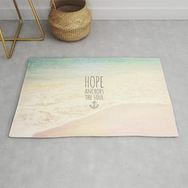 HOPE ANCHORS THE SOUL  Rug