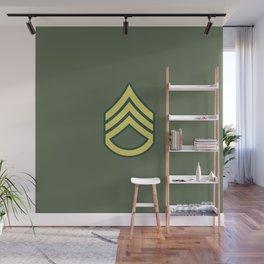 Staff Sergeant (OD Green) Wall Mural
