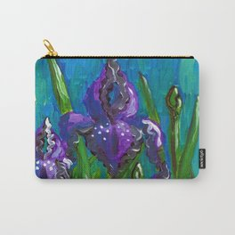 Iris by Mary Bottom Carry-All Pouch