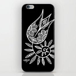 White Flower 131 iPhone Skin