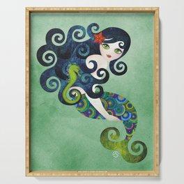 Aquamarine Mermaid Serving Tray