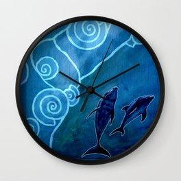 MELUSINA SEA DOLPHINS Wall Clock