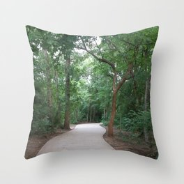 I just felt like running. (no text) Throw Pillow