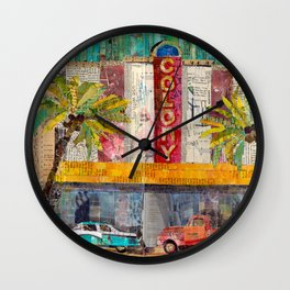 Retro Colony Theater Wall Clock
