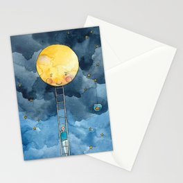 Ladder to the Moon Stationery Cards